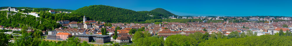 Panorama von Besançon Stockbild