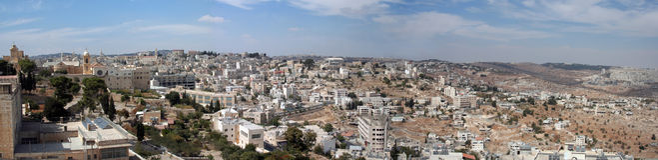Panorama von Bethlehem Lizenzfreie Stockfotografie