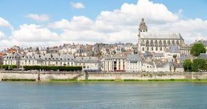 Panorama von Blois-Kathedrale Stockfotografie