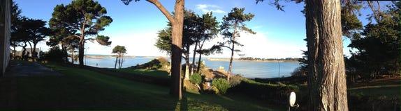 Panorama von Bretagne-Hinterhof stockbild