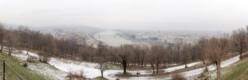 Panorama von Budapest Stockfotografie