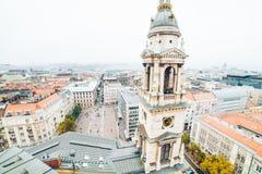 Panorama von Budapest am Herbsttag Stockfotos