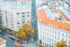Panorama von Budapest am Herbsttag Lizenzfreie Stockfotos