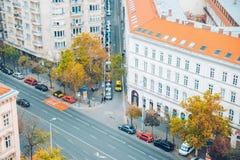 Panorama von Budapest am Herbsttag Stockbilder