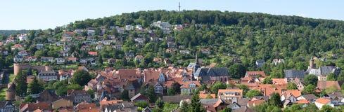 Panorama von Buedingen Stockfotografie