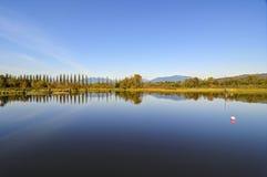 Panorama von Burnaby See Lizenzfreies Stockbild