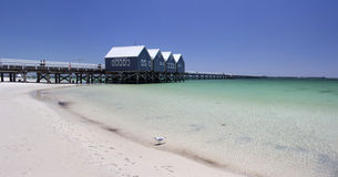 Panorama von Busselton-Anlegestelle West-Australien Stockbild