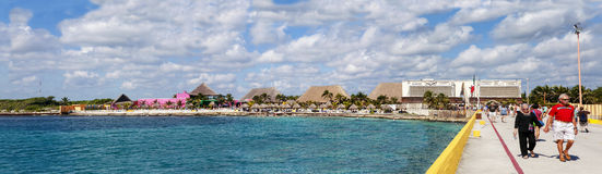 Panorama von Costa Maya, Mexiko Lizenzfreie Stockfotos