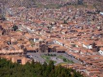 Panorama von Cusco, die Stadt in südöstlichem Peru, Südamerika Lizenzfreie Stockfotografie