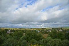 Panorama von Dörfern, Bezirk Sergiev Posad, Moskau-Region, Russland Stockfoto