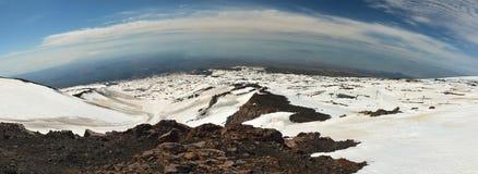 Panorama von den Ätna-Bergen Stockbild