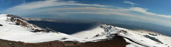 Panorama von den Ätna-Bergen Stockfoto