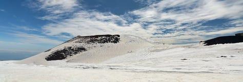 Panorama von den Ätna-Bergen Stockfotografie
