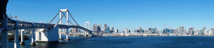 Panorama von der Regenbogen-Brücke lizenzfreie stockbilder
