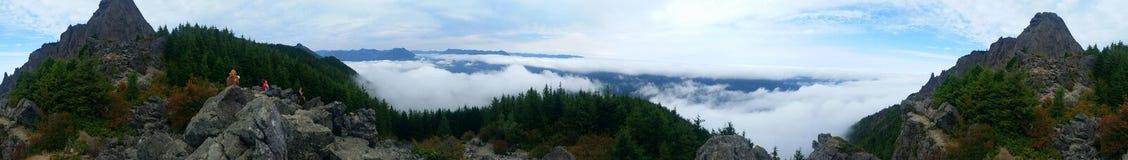 Panorama von der Spitze Stockfotografie