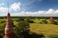 Panorama von der Spitze Bulethi-Pagode Bagan myanmar Lizenzfreies Stockfoto