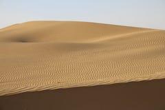 Panorama von Dünen in Thar-Wüste, Rajasthan, Indien Stockfotografie