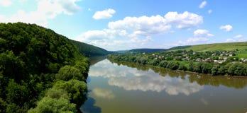 Panorama von Dnister-Schlucht Stockfotos