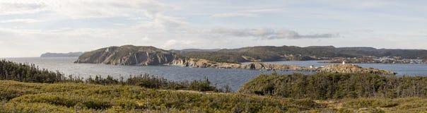 Panorama von Dreiheit, Neufundland, Kanada lizenzfreie stockfotos