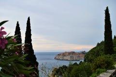 Panorama von Dubrovnik-Kroatien lizenzfreie stockfotos