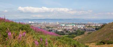 Panorama von Edinburgh Stockfotografie