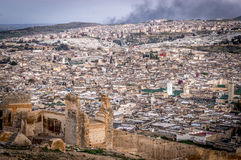 Panorama von Fes, Marokko, Afrika Stockfotos