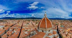 Panorama von Florence Cathedral und von Stadt von Florenz, Italien V stockfoto
