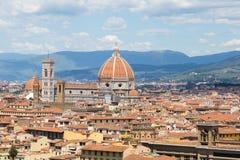 Panorama von Florenz - Ansicht von Michelangelo-Quadrat Stockfoto