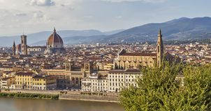 Panorama von Florenz Ansicht von oben Italien lizenzfreie stockfotos