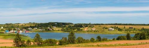 Panorama von französischem Fluss lizenzfreie stockfotos