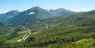 Panorama von französischen Pyrenees stockfoto