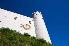 Panorama von Fussen-Schloss in Deutschland Stockfotografie