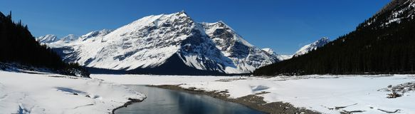 Panorama von Gebirgssee Stockbild