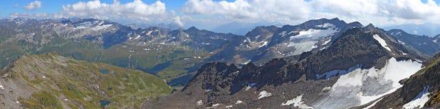 Panorama von Gemsstock oben Lizenzfreies Stockbild