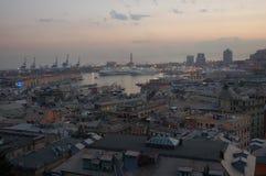 Panorama von Genua stockfoto