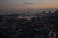 Panorama von Genua stockbilder
