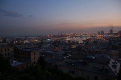 Panorama von Genua stockbild