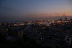 Panorama von Genua stockfotos