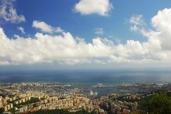 Panorama von Genua stockfotografie