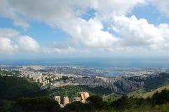 Panorama von Genua lizenzfreies stockbild