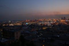 Panorama von Genua lizenzfreie stockbilder