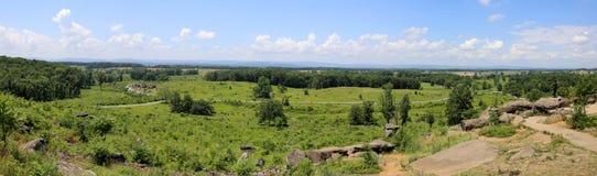 Panorama von Gettysburg-Schlachtfeldern Stockfotografie