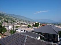 Panorama von Gjirokastra, Albanien Lizenzfreies Stockfoto