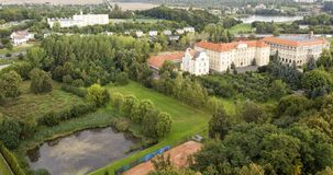 Panorama von Gniezno, die erste Hauptstadt von Polen stockfotografie