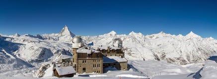 Panorama von Gornergrat lizenzfreies stockbild