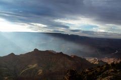 Panorama von Grand Canyon Stockfotos