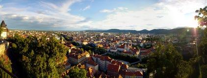 Panorama von Graz lizenzfreies stockbild