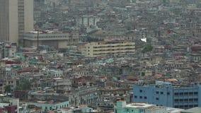 Panorama von Havana-Stadt Vedado-Bezirk, Vogelperspektive stock footage
