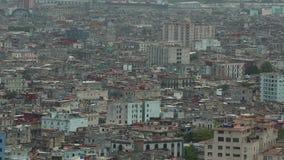 Panorama von Havana-Stadt Vedado-Bezirk, Vogelperspektive stock video footage