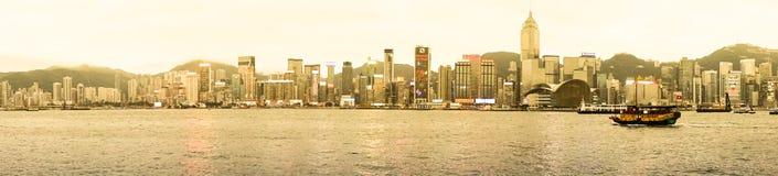 Panorama von Hong Kong lizenzfreies stockfoto